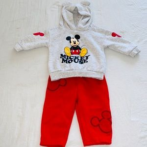 DISNEY BABY Mickey Mouse Sweatsuit Set 6-9 mo